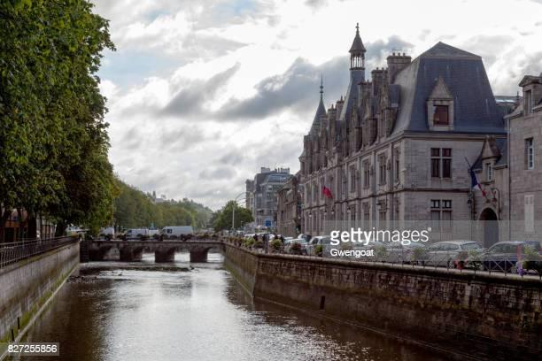 hôtel de préfecture du finistère in quimper - gwengoat stock pictures, royalty-free photos & images