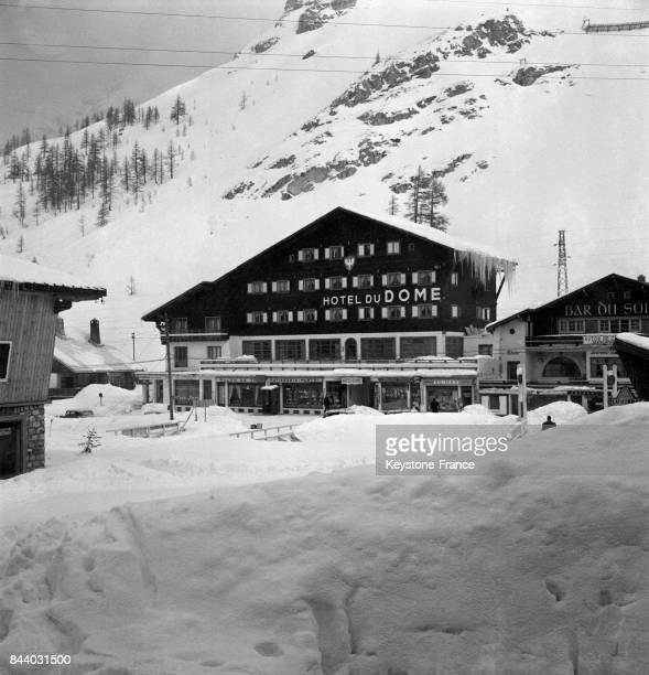 Hôtel du Dôme au Val d'Isère France en février 1956