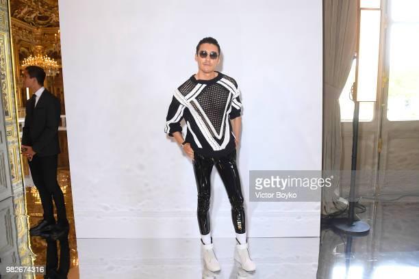Hu Bing attends the Balmain Menswear Spring/Summer 2019 show as part of Paris Fashion Week on June 24 2018 in Paris France