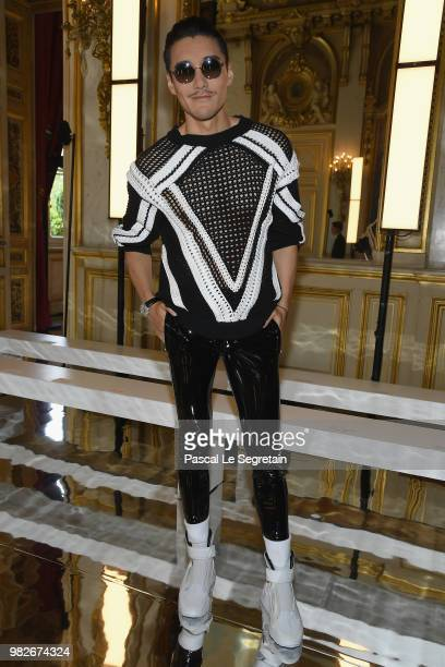 Hu Bing attends the Balmain Menswear Spring/Summer 2019 show as part of Paris Fashion Week on June 24 2018 in Paris France