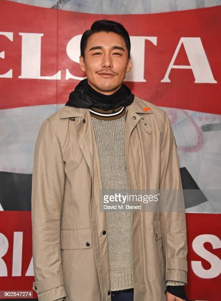 Hu Bing attends the Belstaff presentation during London Fashion Week Men's January 2018 at The Vinyl Factory Gallery on January 8 2018 in London...