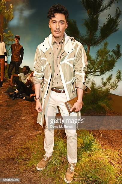 Hu Bing attends the Belstaff presentation during The London Collections Men SS17 at QEII Centre on June 12 2016 in London England