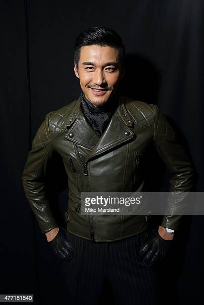 Hu Bing attends the Belstaff show during The London Collections Men SS16 at Old Billingsgate on June 14 2015 in London England