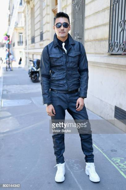 Hu Bing attends the GStar Raw Research III Collection launch during Menswear Spring/Summer 2018 show as part of Paris Fashion Week on June 23 2017 in...