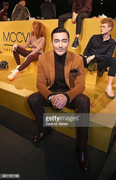Hu Bing attends the MCCVIII presentation during London Fashion Week Men's January 2017 collections at Institute Of Contemporary Arts on January 7...