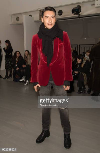 Hu Bing attends the PRONOUNCE Presented By GQ CHINA show during London Fashion Week Men's January 2018 at BFC Show Space on January 8 2018 in London...