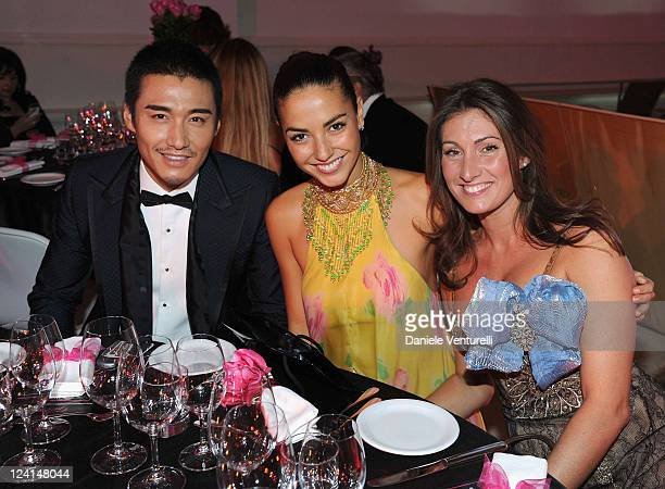 Hu Bing Laura Barriales and Lucia Nardelli attend the Gala Telethon during the 5th International Rome Film Festivalat Palazzo delle Esposizioni on...