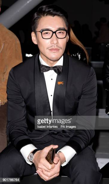 Hu Bing on the front row during the John Lawrence Sullivan Autumn/ Winter 2018 London Fashion Week show at BFC Show Space, London. PRESS ASSOCIATION...
