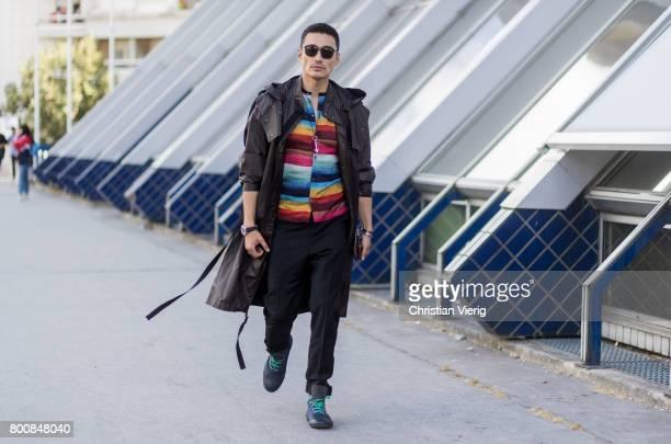 Hu Bing outside Lanvin during Paris Fashion Week Menswear Spring/Summer 2018 Day Five on June 25 2017 in Paris France