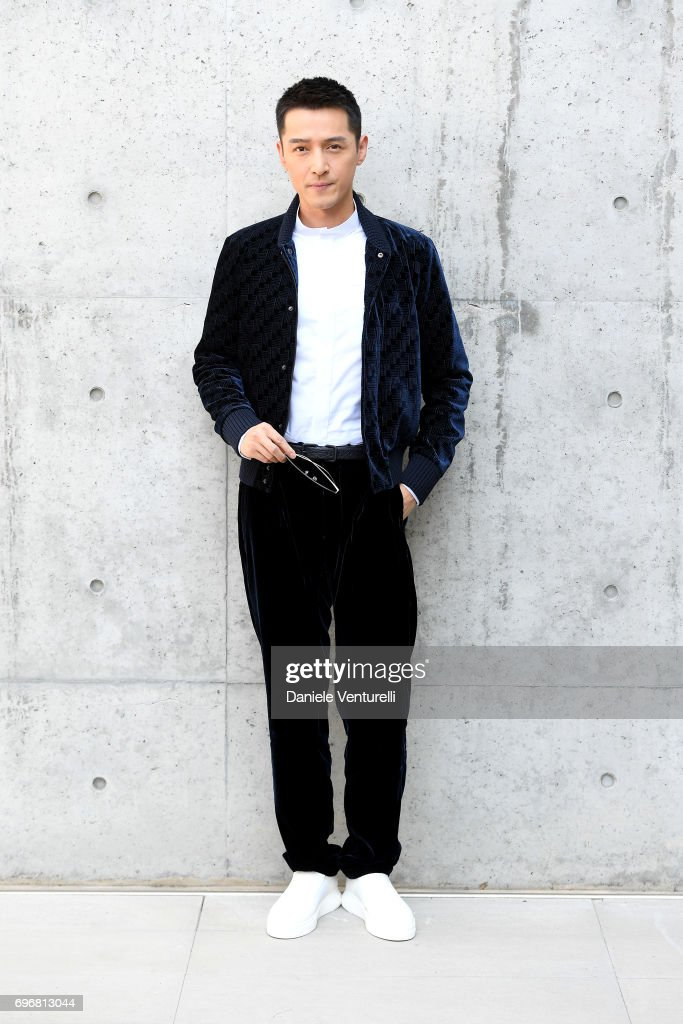 Hu Ge attends the Emporio Armani show during Milan Men's Fashion Week Spring/Summer 2018 on June 17, 2017 in Milan, Italy.