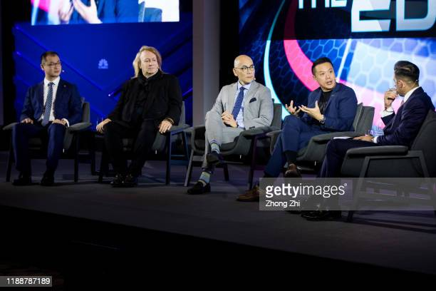 Hua Fung Teh, Group President of ONE Championship, Jay Li, Vice President and General Manager of Greater China of WWE, Rick Garson, CEO and founder...