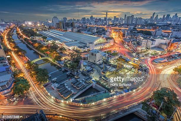 hua lamphong railway station - nopz stock pictures, royalty-free photos & images