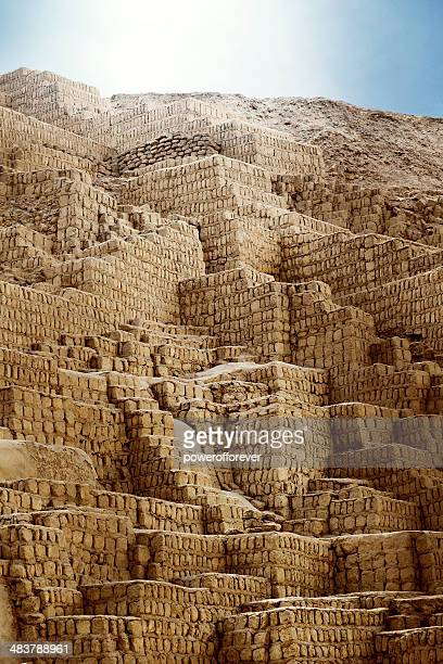 huaca pucllana - lima, peru - antiquities stock pictures, royalty-free photos & images