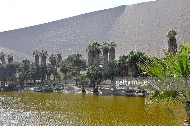 Huacachina Oasis Lake and dune