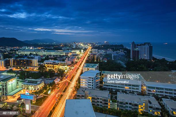 huahin skyline - prachuap khiri khan province stock pictures, royalty-free photos & images