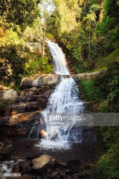 huai sai luang waterfall - doi inthanon national park chiang mai - riachuelo fotografías e imágenes de stock