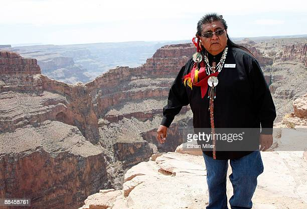 Hualapai representive Wilfred Whatoname Jr is seen in front of Eagle Point near the Grand Canyon Skywalk June 12 2009 in Grand Canyon West Arizona...
