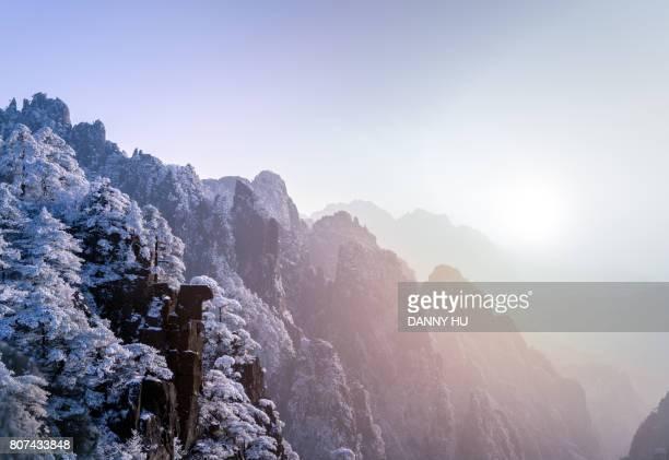 huang shan in winter