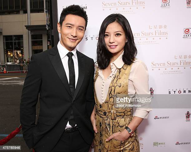 Huang Xiaoming and Zhao Wei attend the 88th Birthday Of TLC Chinese Theater IMAX Honoring Justin Lin Zhao Wei And Huang Xiaoming with Iconic Imprint...