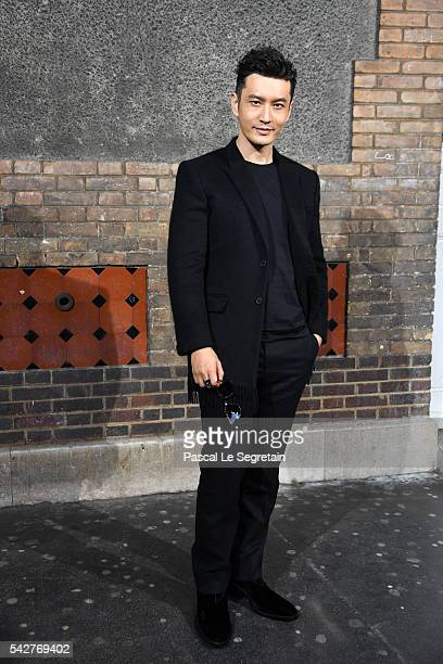 Huang Xiaoming attends the Givenchy Menswear Spring/Summer 2017 show as part of Paris Fashion Week on June 24 2016 in Paris France