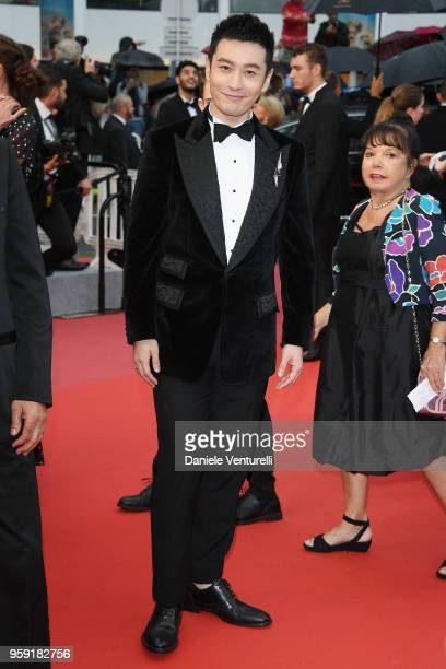 Huang Xiaoming attends the screening of Burning during the 71st annual Cannes Film Festival at Palais des Festivals on May 16 2018 in Cannes France