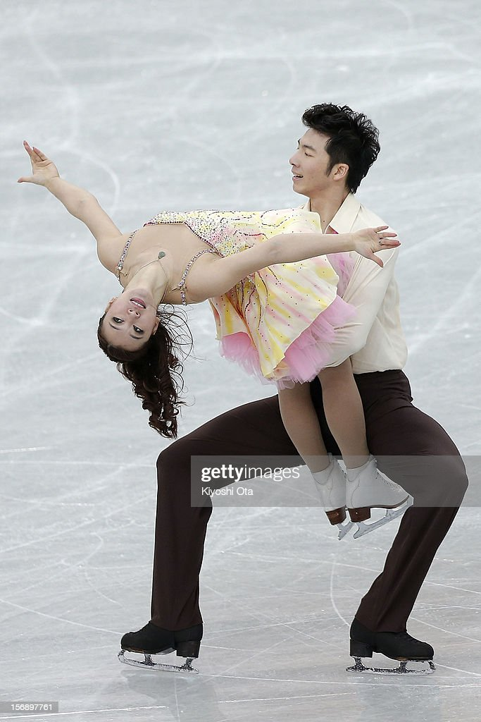 Huang Xintong and Zheng Xun of China compete in the Ice Dance Free Dance during day two of the ISU Grand Prix of Figure Skating NHK Trophy at Sekisui Heim Super Arena on November 24, 2012 in Rifu, Japan.