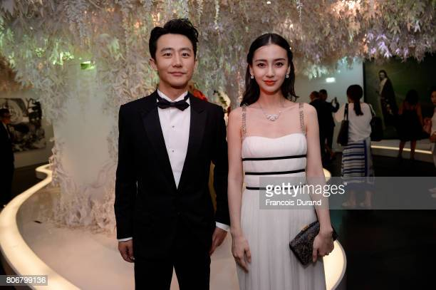Huang Xuan and Angelababy attends 'Christian Dior couturier du reve' Exhibition Launch celebrating 70 years of creation at Musee Des Arts Decoratifs...