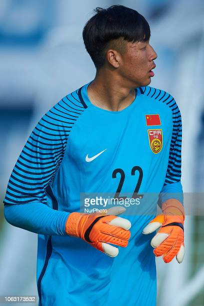 Huang Zhihao of China looks on during the international friendly match between China U18 and Norway U19 at Pinatar Arena on November 17 2017 in...
