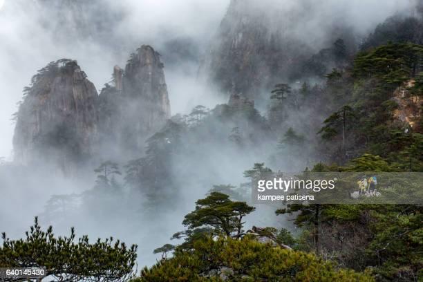 Huangshan (Yellow Mountains), Eastern China.