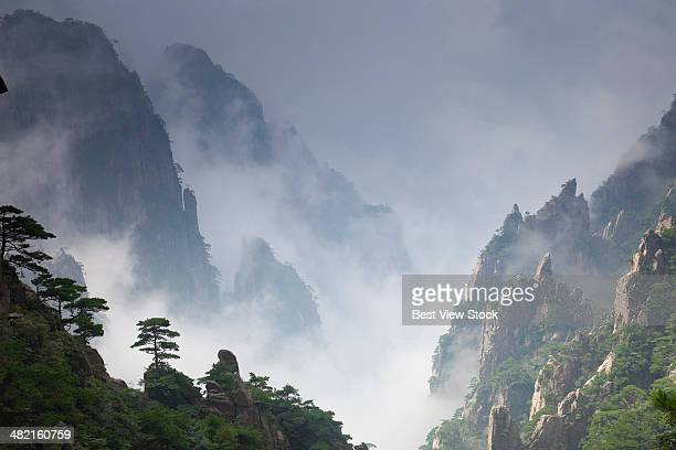 huangshan in anhui - lotus flower peak stock pictures, royalty-free photos & images