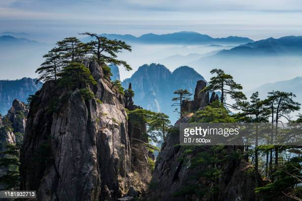 huangshan landscape - anhui province stock pictures, royalty-free photos & images