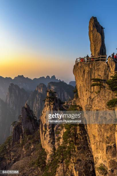 huangshan mountain - lotus flower peak stock pictures, royalty-free photos & images