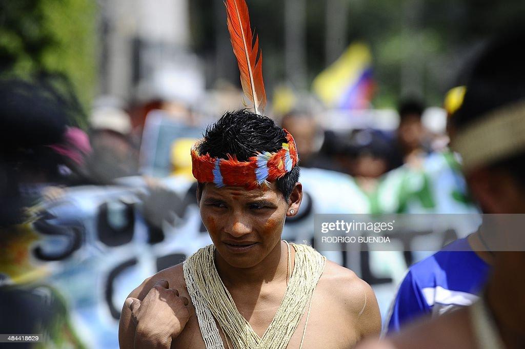 ECUADOR-ECOLOGY-OIL-REFERENDUM : News Photo