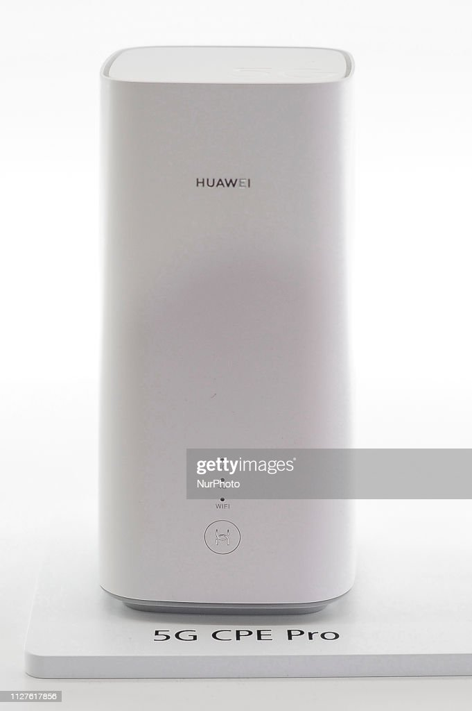 Huawei 5G CPE Pro, exhibited during the Mobile World Congress, on