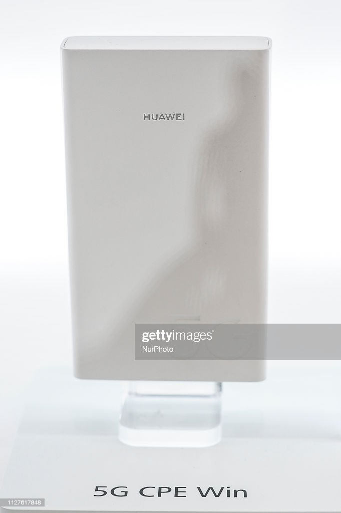 Huawei 5G CPE Win, exhibited during the Mobile World Congress, on