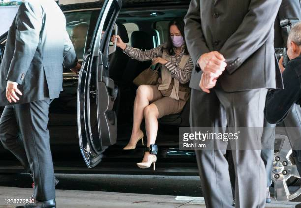 Huawei CFO Meng Wanzhou steps out of her car as she arrives at BC Supreme Court to resume her fight against extradition to the United States on...