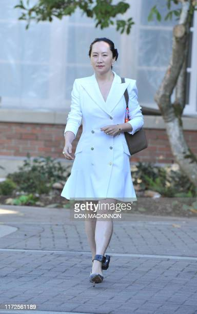 Huawei Chief Financial Officer, Meng Wanzhou leaves her Vancouver home to appear in British Columbia Supreme Court in Vancouver on September 30,...