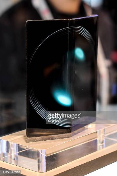 Huawei Mate X exhibited during the Mobile World Congress on February 26 2019 in Barcelona Spain
