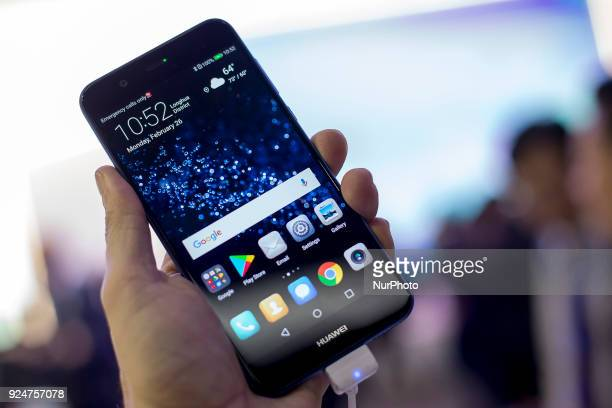 Huawei Nova 2 smartphone Thousands of people participate in the Mobile World Congress 2018 in Barcelona Spain from February 26 to March 1 2018