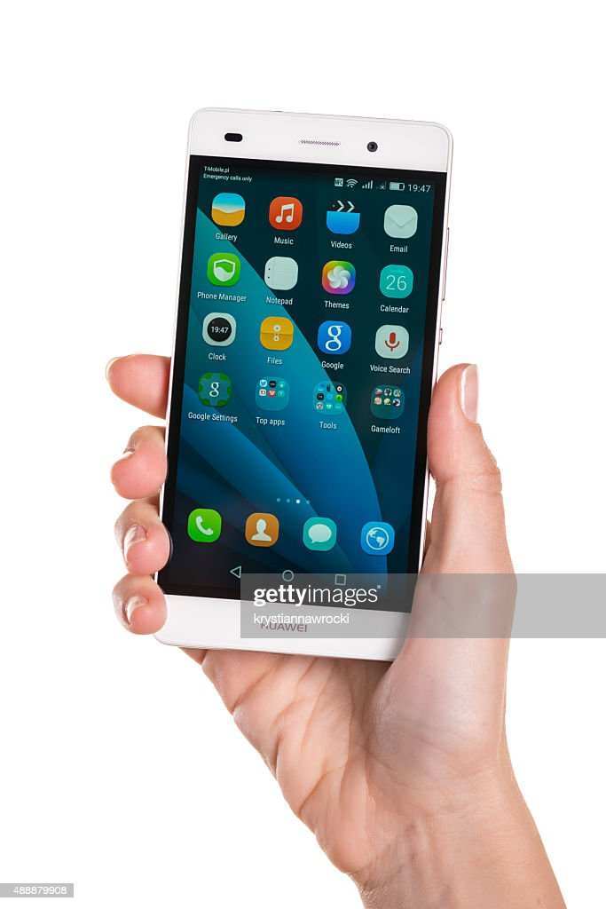Huawei P8 Lite In Woman Hand Stock Photo - Getty Images
