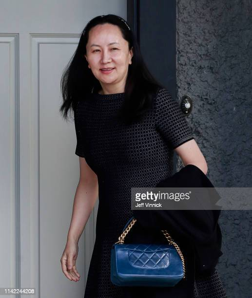 Huawei Technologies Chief Financial Officer Meng leaves her home on May 8 2019 in Vancouver Canada Wanzhou is in court prior to extradition hearings...