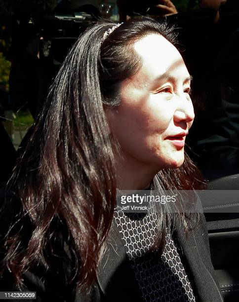Huawei Technologies Chief Financial Officer Meng Wanzhou arrives at her home after spending the day in court on May 8 2019 in Vancouver Canada...