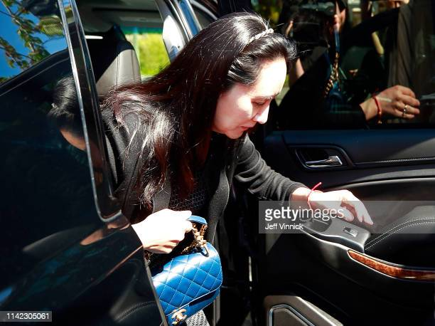 Huawei Technologies Chief Financial Officer Meng Wanzhou arrives at her home after spending the day in court on May 8, 2019 in Vancouver, Canada....