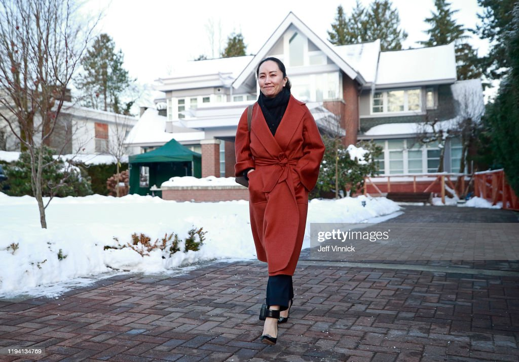 Huawei CFO Meng Wanzhou Appears In Court Before Start Of Extradition Hearing : News Photo