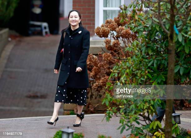Huawei Technologies Chief Financial Officer Meng Wanzhou leaves her house on her way to a court appearance on the first day of her extradition trial...