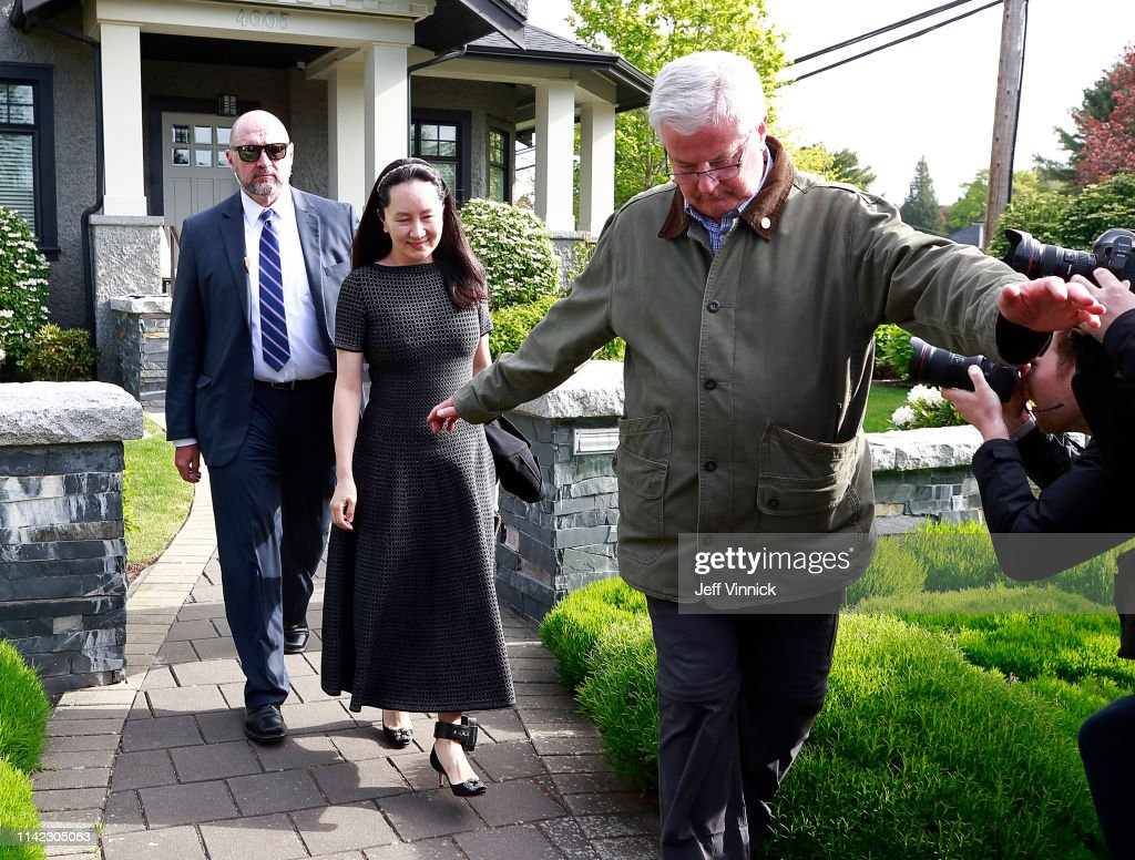 Huawei's CFO Meng Wanzhou Attends Court Hearing On Her Extradition Proceedings : Nachrichtenfoto