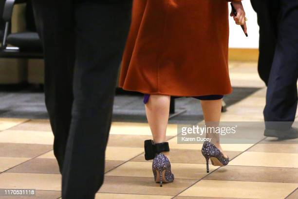 Huawei Technologies Co Chief Financial Officer Meng Wanzhou arrives at the British Columbia Superior Court after lunch wearing an ankle bracelet on...