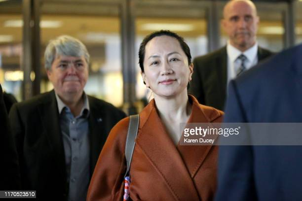 Huawei Technologies Co. Chief Financial Officer Meng Wanzhou leaves the British Columbia Superior Courts on September 23, 2019 in Vancouver, Canada....