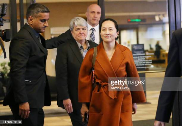 Huawei Technologies Co. Chief Financial Officer, Meng Wanzhou, leaves the British Columbia Superior Courts on September 23, 2019 in Vancouver,...