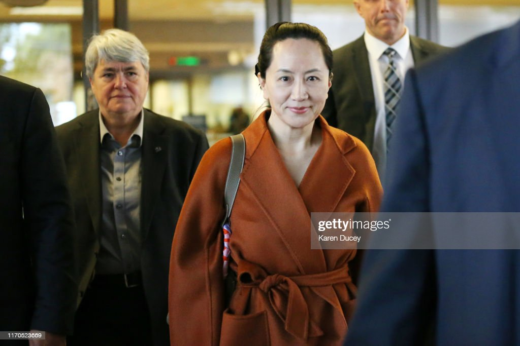 Huawei CFO Meng Wanzhou Appears In Canadian Court For Extradition Hearing : News Photo